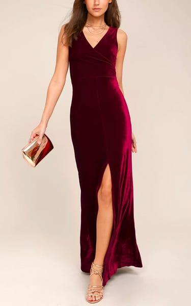 2be18417b55 Crushin  It Burgundy Velvet Maxi Dress - BestFashionHQ.com