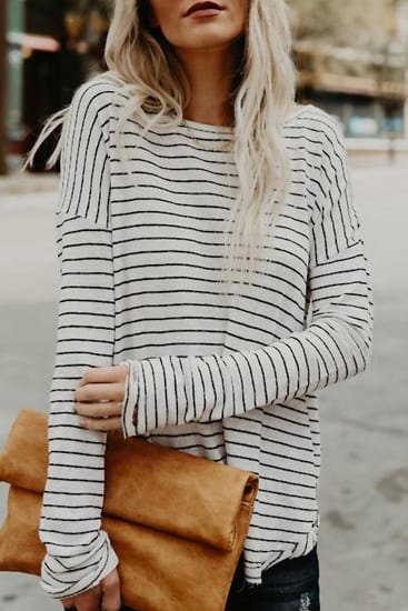Poppoly Well Love Striped Top